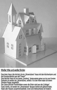 Haus Basteln Pappe Vorlage : wei e villa und wei e kirche 2 fensterdeko pinterest ~ Eleganceandgraceweddings.com Haus und Dekorationen