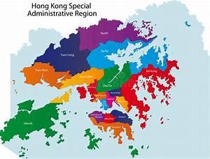 Hong Kong map stock vector. Illustration of atlas, nation ...