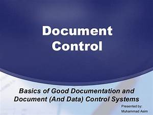 document data control With documents and data control