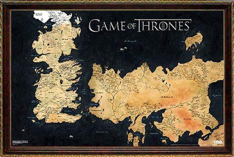 game  thrones poster map framed ebay
