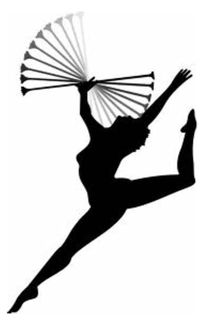 Clip Baton Twirling Twirler Clipart Majorette Silhouette