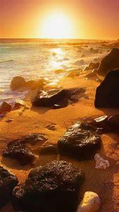 iPhone 5S Wallpaper Beach Sunset