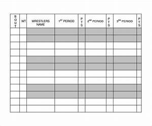 9+ Sample Wrestling Score Sheets | Sample Templates