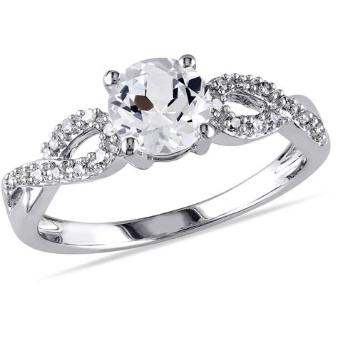 miabella 1 10 carat t w and 1 carat t g w created white sapphire 10kt white gold
