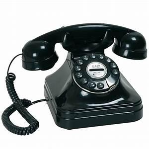 Telephone Filaire Retro : t l phone filaire chicago r tro noir ~ Teatrodelosmanantiales.com Idées de Décoration