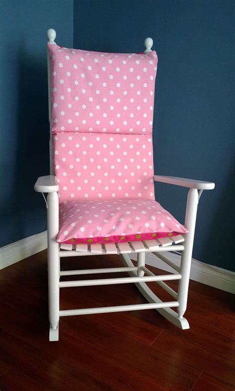 Pink Rocking Chair Cushions For Nursery by Rocking Chair Cushion Pink Lime Polka Dot