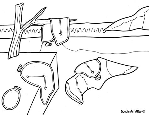 Famous Art Coloring Page 2243819