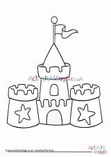 Colouring Sand Sandcastle Castle Coloring Pages Print Seaside Beach Printable Drawing Template Hogwarts Activityvillage Colour Tsgos Simple Sheets Craft Summer sketch template