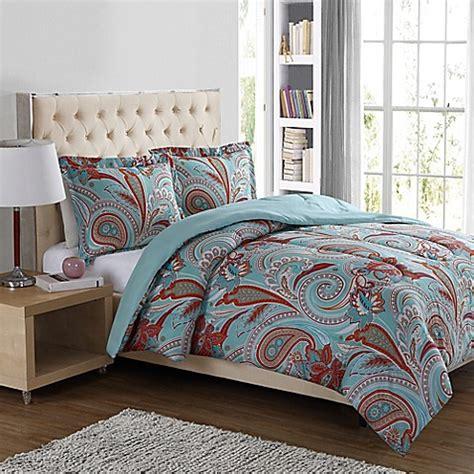 paisley comforter sets boho paisley 3 comforter set in blue bed bath beyond