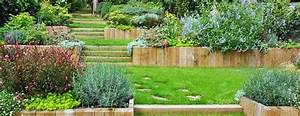 jardin en pente jardiniers professionnels jardin With amenager son jardin en pente 8 vert de terre