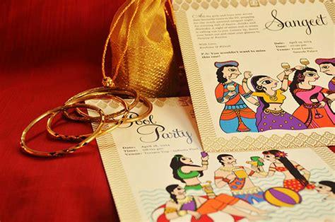 madhubani art inspired wedding invite design dimensions