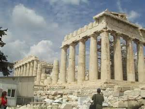 神殿:パルテノン神殿(東側)
