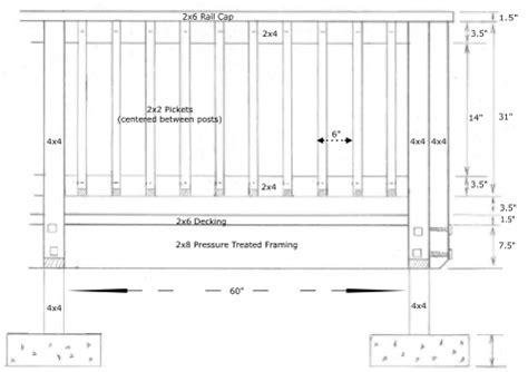 deck railing spacing between posts deck railing