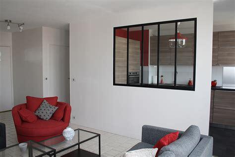 verriere interieure cuisine appartement f2 yvelines architecture intérieure décoration d intérieur