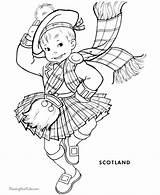Coloring Scotland Children Scottish Coloriage Dance Enfants Monde Outline Books Colouring Sheets Highland Adult Digi Printable Adorable Patricks Ausmalen Template sketch template