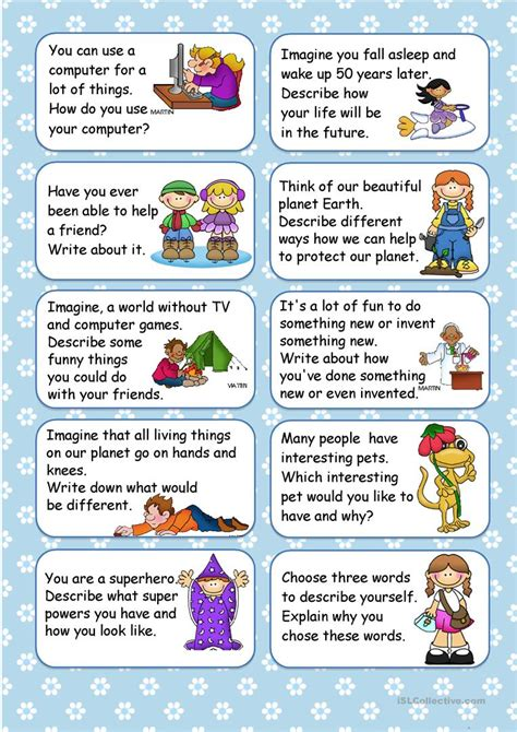 20 Writing Prompts For April Worksheet  Free Esl Printable Worksheets Made By Teachers