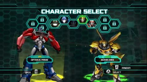 Transformers Prime Optimus Prime Vs Bumblebee Pc Gameplay