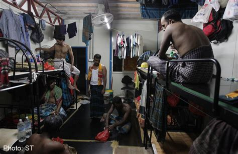 workers foreign construction quarters singapore site room asiaone
