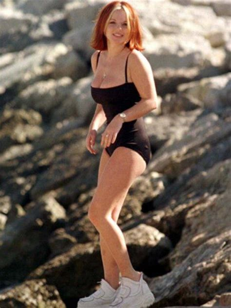 geri horner young spice girl geri halliwell in buffalo boots and a body suit