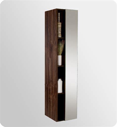 vanity mirror with side cabinets 16 quot fresca fst8070gw walnut bathroom linen cabinet w 4