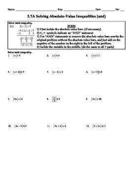 holt algebra 3 7a solving absolute value inequalities and
