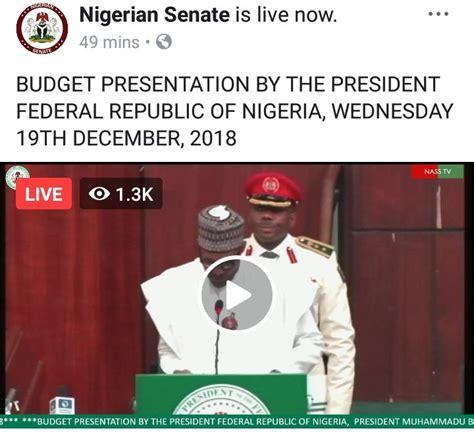 buhari presents  budget  updates politics