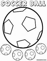 Ball Soccer Coloring Pages Print Colorings Soccerball sketch template