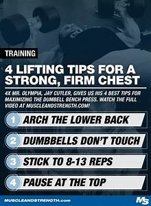 Jay Cutler U0026 39 S Training Tips  Maximum Contraction Dumbbell Bench Press