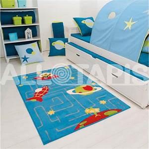 Tapis Pour Chambre Enfant : tapis pour chambre de gar on en polypropyl ne bleu galaxy ~ Melissatoandfro.com Idées de Décoration
