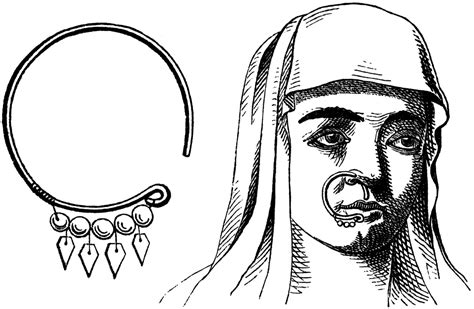 nose ring clipart