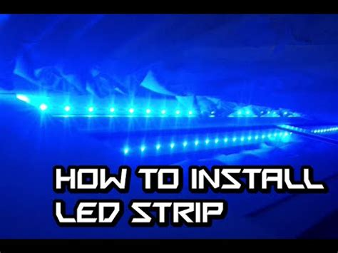 how to install led light strip on window frame youtube
