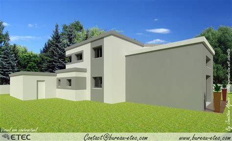 plan de bureau maison toit terrasse besançon ecole valentin etec