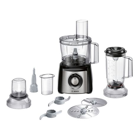 food bosch processor attachments motor 800w stainless steel