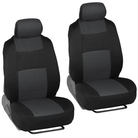 Car Seat Covers For Kia Soul 2 Tone Charcoal & Black W