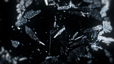 transparent ice crystals melt snowflakes