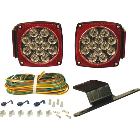 trailer light kits blazer submersible led trailer light kit clear lens leds