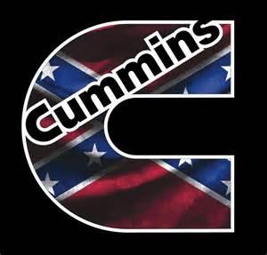 Cummins Confederate Flag Camo Vinyl Decal Dodge Ram Turbo