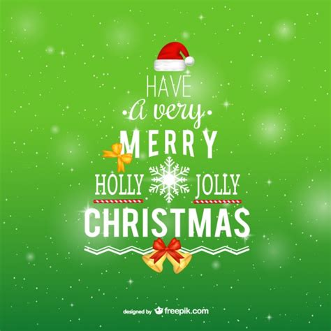 merry christmas typography vector free download