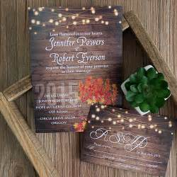 cheap rustic wooden string light jar fall wedding invites ewi395 as low as 0 94 - Cheap Rustic Wedding Invitations