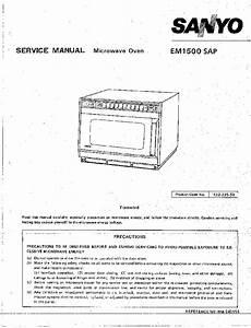 Sanyo Sr366w Parts List Service Manual Free Download