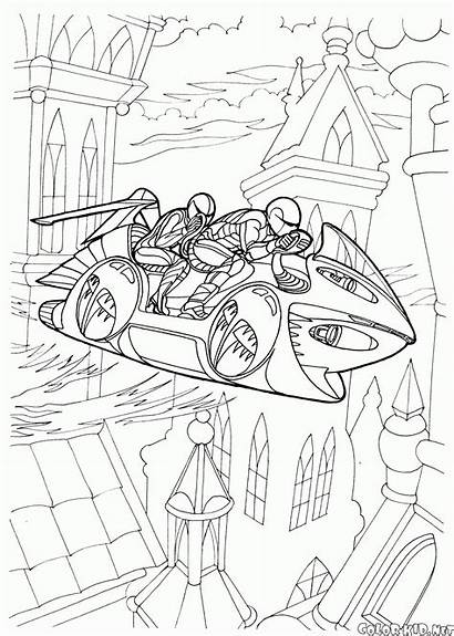 Coloring Futuristic Moto Plan Pages Future Aircraft