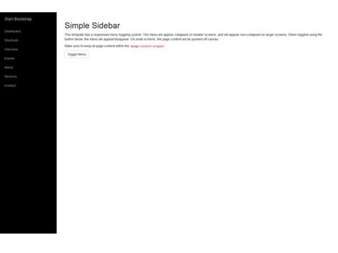 simple bootstrap template simple sidebar free bootstrap 3 template