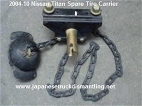 nissan titan spare tire carrier spare wheel hanger