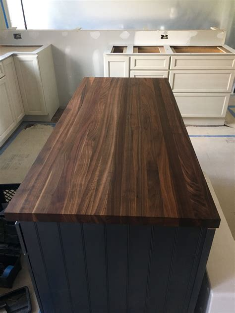 Soapstone Island Countertop by Walnut Countertop For This Kitchen Island By Garden State