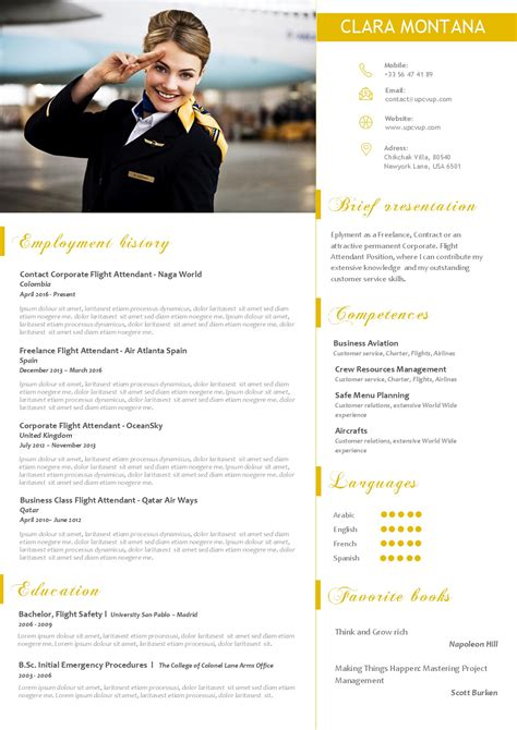 Créer Cv Word by Flight Attendant Cv Exle Cover Letter Sles Cover