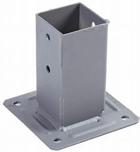 Support De Poteau : 730530127 pied de poteau 68 x 68 mm laqu ~ Melissatoandfro.com Idées de Décoration