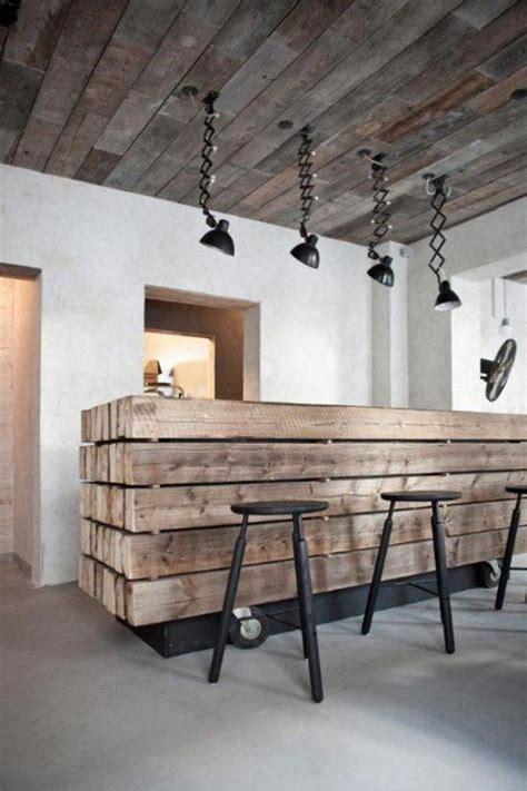 creer un comptoir bar cuisine la poutre en bois comment l 39 incorporer dans l 39 intérieur
