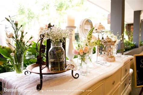 indoor garden butterfly event styling
