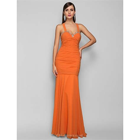 Formal Evening / Prom / Military Ball Dress - Orange Plus ...