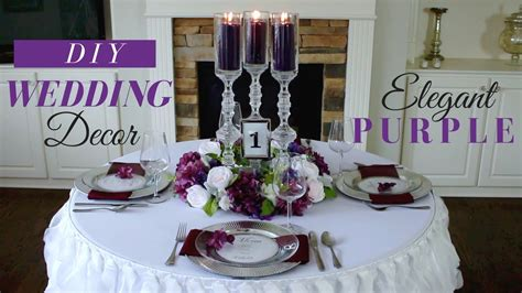 Wedding Decoration Ideas by Diy Wedding Centerpieces Purple Wedding